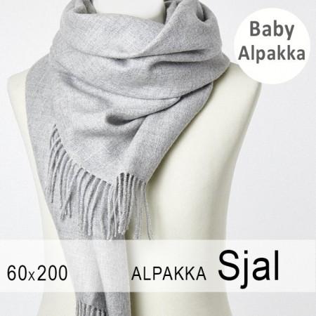 Alpakasjal 20434 Lys Grå 61df5ddf3c767