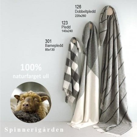 Naturpledd Norsk Ull